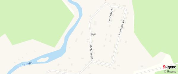 Школьная улица на карте поселка Кодино с номерами домов