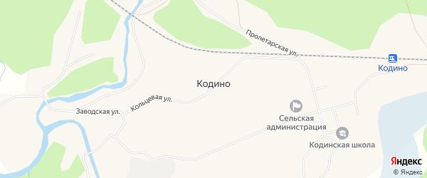 Карта поселка Кодино в Архангельской области с улицами и номерами домов