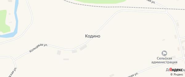 Заречная улица на карте поселка Кодино с номерами домов