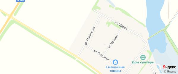 Улица Матросова на карте Еленовского села с номерами домов