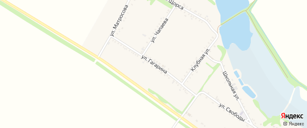Улица Гагарина на карте Еленовского села с номерами домов
