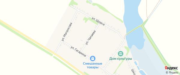 Улица Чапаева на карте Еленовского села с номерами домов