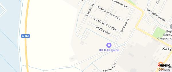 Пионерская улица на карте аула Хатукая с номерами домов