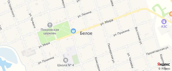 Дорога А/Д Белое-Догужиев на карте Белого села с номерами домов