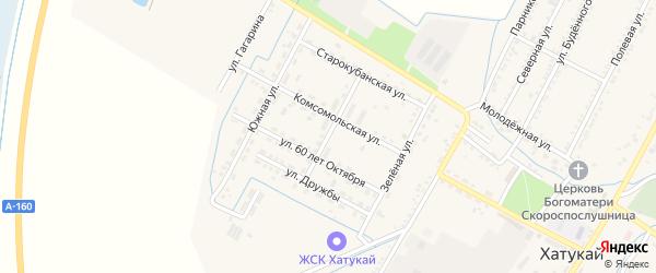 Первомайская улица на карте аула Хатукая с номерами домов