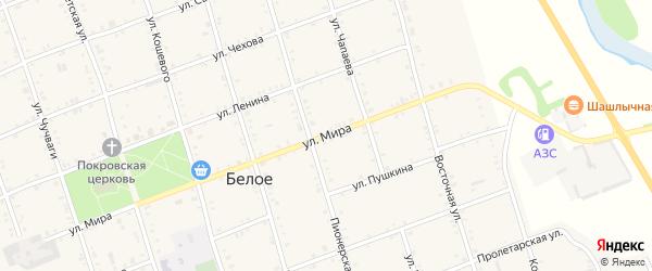 Улица Мира на карте Белого села с номерами домов