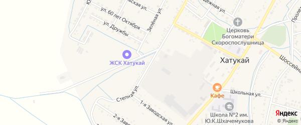Степная улица на карте аула Хатукая с номерами домов