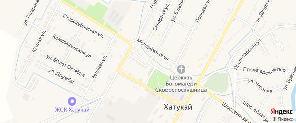 Улица Горького на карте аула Хатукая с номерами домов