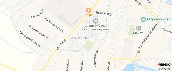 Восточная улица на карте аула Хатукая с номерами домов