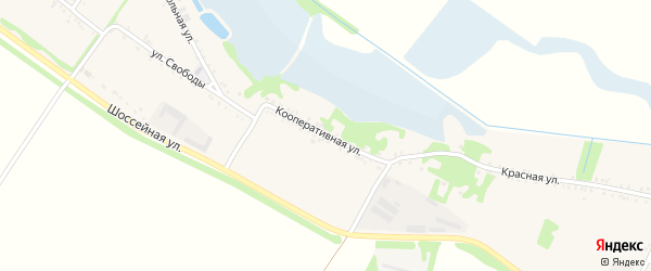 Кооперативная улица на карте Еленовского села с номерами домов