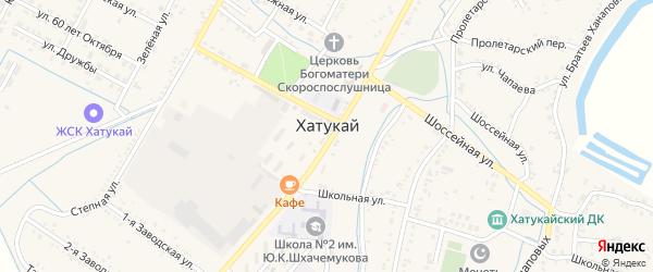 Подлесная улица на карте аула Хатукая с номерами домов