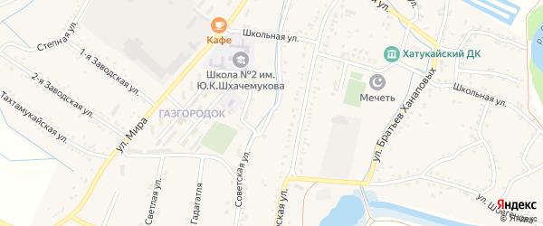 Советская улица на карте аула Хатукая с номерами домов