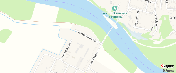 Набережная улица на карте аула Хатукая с номерами домов