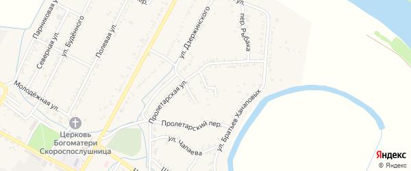 Мамаева 2-й переулок на карте аула Хатукая с номерами домов