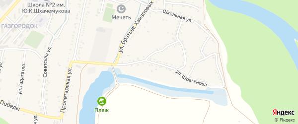 Улица Шовгенова на карте аула Хатукая с номерами домов