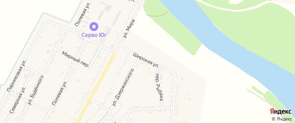 Широкая улица на карте аула Хатукая с номерами домов