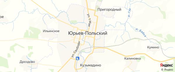 Карта Юрьева-Польского с районами, улицами и номерами домов