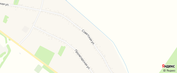 Советская улица на карте Еленовского села с номерами домов