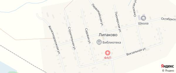 Садовая улица на карте поселка Липаково с номерами домов