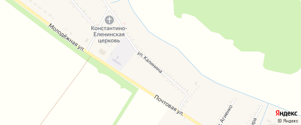 Улица Калинина на карте Еленовского села с номерами домов