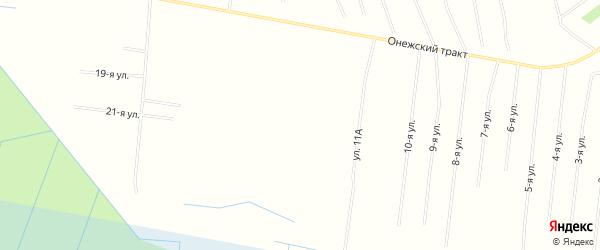 СНТ ДВИНА-2 на карте Северодвинска с номерами домов