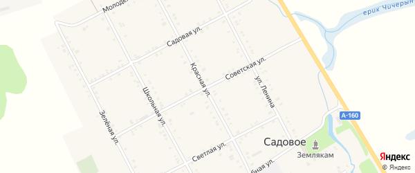 Советская улица на карте Садового села с номерами домов