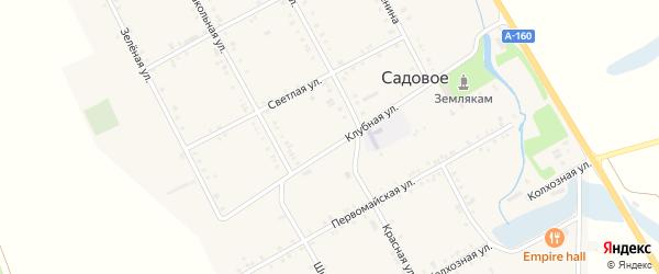 Дорога А/Д Майкоп-Усть-Лабинск на карте Садового села с номерами домов