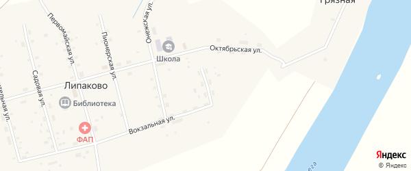 Заречная улица на карте поселка Липаково с номерами домов