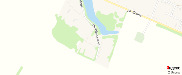 Октябрьская улица на карте Еленовского села с номерами домов