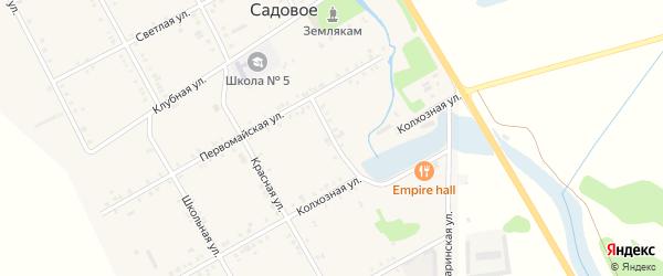Восточный переулок на карте Садового села с номерами домов