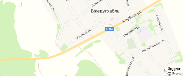 Улица Ленина на карте аула Бжедугхабля с номерами домов