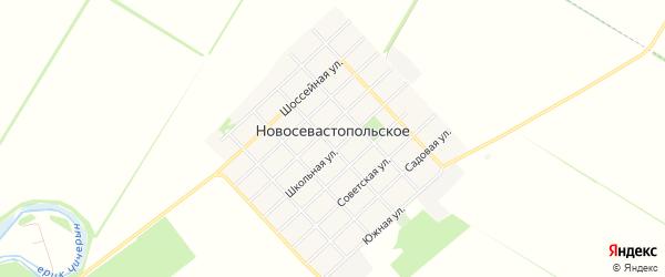 Карта Новосевастопольского села в Адыгее с улицами и номерами домов
