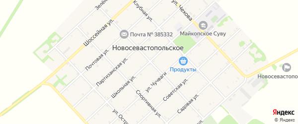Школьная улица на карте Новосевастопольского села с номерами домов