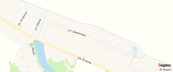 Улица Шевелева на карте Еленовского села с номерами домов