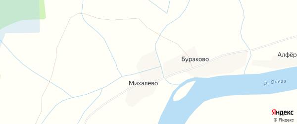 Карта Антроповской деревни в Архангельской области с улицами и номерами домов