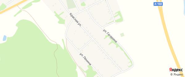 Улица Переулок на карте аула Бжедугхабля с номерами домов