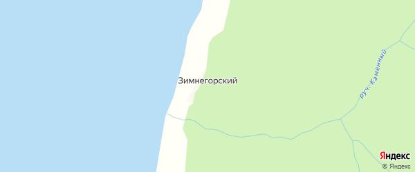 Карта населенного пункта Зимнегорского Маяка в Архангельской области с улицами и номерами домов