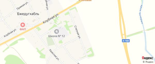 Степная улица на карте аула Бжедугхабля с номерами домов