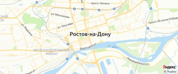 Карта Ростова-на-Дону с районами, улицами и номерами домов