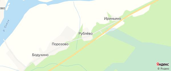 Карта деревни Рублево в Архангельской области с улицами и номерами домов
