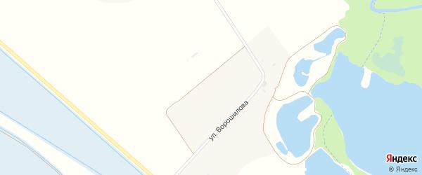 Северная улица на карте хутора Пустоселова с номерами домов