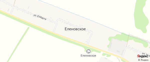 Садовый переулок на карте Еленовского села с номерами домов