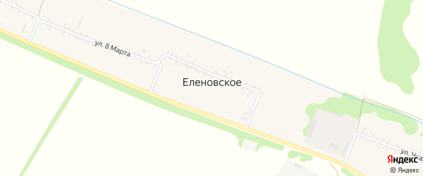 Переулок Ермакова на карте Еленовского села с номерами домов