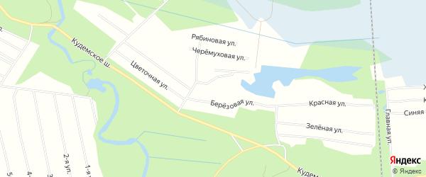 СНТ ВОЛНА на карте Северодвинска с номерами домов