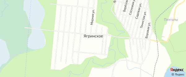 СНТ ЯГРИНСКОЕ на карте Северодвинска с номерами домов