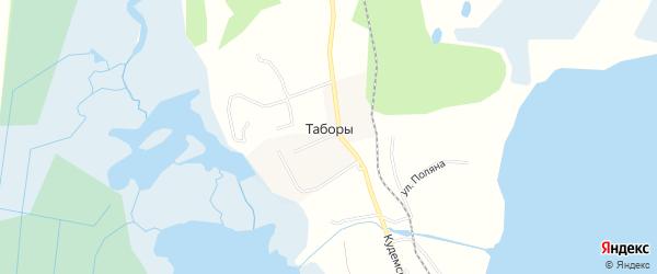 Карта деревни Таборы города Северодвинска в Архангельской области с улицами и номерами домов