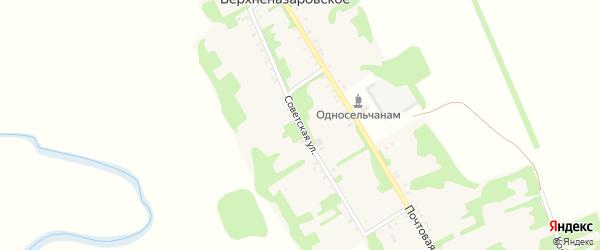 Советская улица на карте Верхненазаровского села с номерами домов