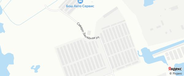 Северо-западная улица на карте Северодвинска с номерами домов