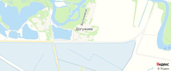 Карта хутора Догужиева в Адыгее с улицами и номерами домов