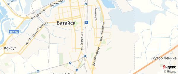 Карта Батайска с районами, улицами и номерами домов: Батайск на карте России
